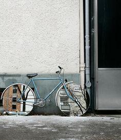 mirrored bike