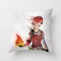 Lilith Throw Pillow by Melissa Smith - $20.00 (Borderlands, Siren, Video Games)