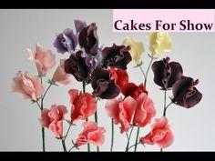 Sweet peas: How to make gum paste sweet peas for cakes - YouTube