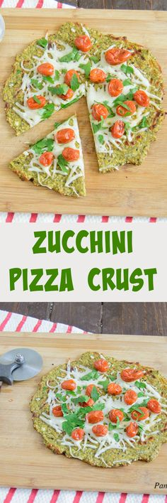 Zucchini Crust Pizza - super easy low carb pizza crust that gets crispy and holds up well to toppings!