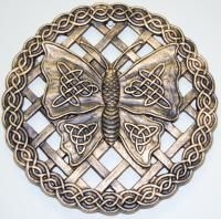 Celtic Butterfly Stepping Stone or Wall Plaque Celtic Tree, Irish Celtic, Celtic Dragon, Celtic Patterns, Celtic Designs, Celtic Crafts, Metal Embossing, Celtic Symbols, Celtic Knots
