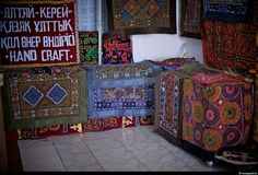 """Small shop """"Hand-craft"""" in Mongolia... kazakh embroidery."""