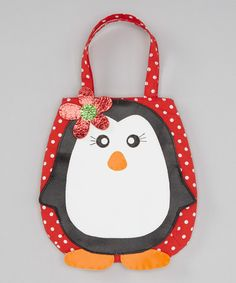 Take a look at this Red, Black & White Penguin Handbag on zulily today!