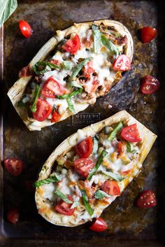 Healthy turkey & veggie stuffed eggplant boats from the cookbook Dinner for Two. Over 25g protein per boat!