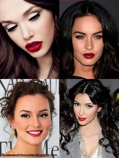 I love this look, but when I do it I look like a brats doll!  haha red lips and simple eyes - If the eyes are dramatic and smokey then the two are competing toooo much!