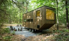 Tiny house startup Getaway 02 850x508 Small off grid cabin in the outskirts of New York City
