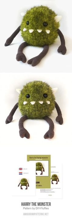 Harry The Monster Amigurumi Pattern