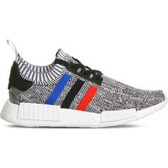 Adidas NMD R1 Primeknit trainers ($140) ❤ liked on Polyvore featuring men's fashion, men's shoes, men's sneakers, mens leopard print shoes, mens lightweight running shoes, colorful mens shoes, adidas mens shoes and mens lace up shoes
