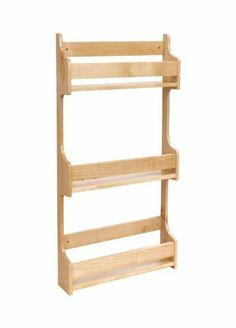 """9"""" Door Mount Spice Rack by Cabinet Giant. $60.99. 3 Shelves Hard maple - All Wood Comes fully assembledFor left or right hand installation Size is 9 1/2"""" wide x 23"""" tall x 3.125"""" deep Simply mounts behind a wall door that has a frame opening of more than 9 1/2"""" wide x 23"""" tall"""