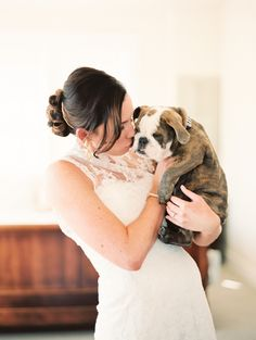 #puppy | See the wedding on SMP: www.stylemepretty... | Jessica Burke Photography
