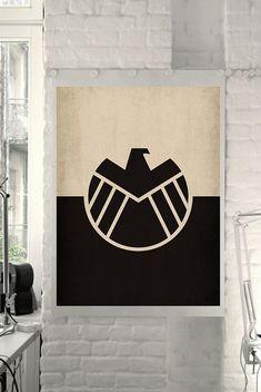 "Marvel Comic Store Superheroes Minimalist ""Avengers Agents of Shield"" Art Poster - Retro Style Home Decor Wall Art DC Universe"