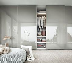 Cool 45 Creative Bedroom Wardrobe Design Ideas That Inspire On Bedroom Closet Doors, Wardrobe Design Bedroom, Bedroom Cupboards, Bedroom Wardrobe, Modern Wardrobe, Master Bedroom, Wardrobe Closet, Modern Closet Doors, Grey Cupboards