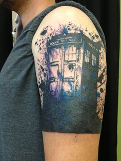 """A work in progress.  I plan to have a Dalek added in the same style and Tom Baker's (4th Doctor) scarf with the words, """"We're all stories in the end, just make sure it's a good one."""""""