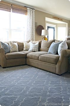 The family room sectional Family Room Sectional, Small Sectional Sofa, Couches, Small Living Rooms, Home Living Room, Living Room Decor, Living Spaces, Living Room Flooring, Ideas