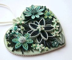 Hanging Heart Ornament A Lovely Floral by AGiftwithinaGift on Etsy