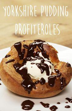 Yorkshire Pudding Profiteroles