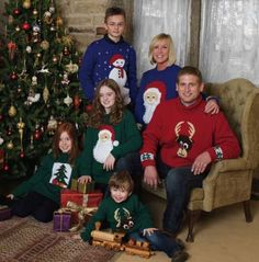 Free Christmas Jumper Patterns perfect for any festive Christmas party ! Jumpers feature Snowman, Reindeer, Christmas tree and Father Christmas.