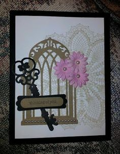 Sheryl's Crafting Corner - Black, brown and pink combo card