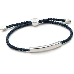 Monica Vinader Linear Men's Friendship Bracelet ($150) ❤ liked on Polyvore featuring jewelry, bracelets, sterling silver bangles, pandora bracelet, sterling silver bracelet bangle, friendship bracelet and sterling silver toggle bracelet