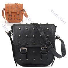 New Fashion Women's  Leather Rivets shoulder bag Cross Body Bag Shoulder Bag casual girl backpack  messenger bags 9502 on AliExpress.com. 11% off $10.24