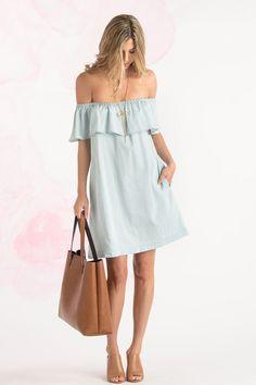 Off Shoulder Dresses, One Shoulder Dress – Morning Lavender