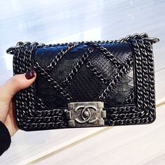 This his def. one of my favorite's when it comes to Chanel bags. So do not gloss over this one as you decide on the black bag you will be getting. Really the photo speaks volumes AND if you are as crazy about tweed as myself, this really matches perfectly. A versatile chic bag loving it