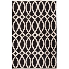 Kate Spade Roosevelt Loop De Loop Rug ($400) ❤ liked on Polyvore featuring home, rugs, kate spade rug, black rug, flatweave rugs, black area rug and flat woven rugs