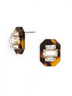 Tortoiseshell Baublebar earrings