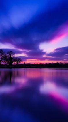 Sunset Lake #iPhone #6 #plus #Wallpaper