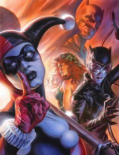 veleno edera e Harley Quinn lesbica porno