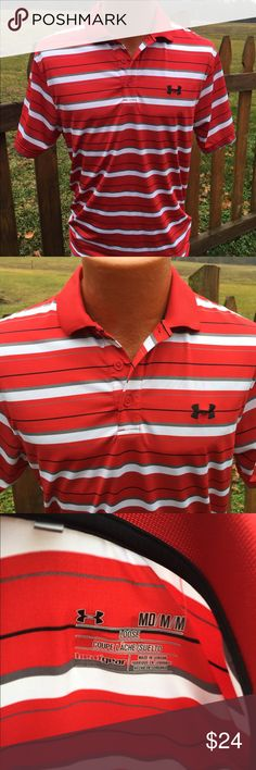 Under Armour Mens Golf Polo Shirt Size Medium Size medium loose. Super gently preowned. Be sure to view the other items in our closet. We offer both women's and Mens items in a variety of sizes. Bundle and save!! Thank you for viewing our item!! Under Armour Shirts Polos