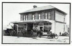 """An old New Brighton business, the """"New Brighton Butchery' owned by John H. Shaw. 'Jack' was a ardent bowler, and lived in New Brighton for al least 20 years. He was a councillor and deputy mayor, president of various sporting bodies, including the bowling club. Even better was his corned beef!"""