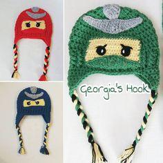 "Lego Ninjago crochet hat  0 ""Μου αρέσει!"", 1 σχόλια - Georgia's Hook (@georgias_hook) στο Instagram: ""#Lego #Ninjago #Lego_Ninjago #crochet_hat #crochet_Ninjago #Ninjago_hat #red #blue #green…"" Hat Crochet, Lego Ninjago, Blue Green, Georgia, Crochet Patterns, Winter Hats, Red, Handmade, Instagram"