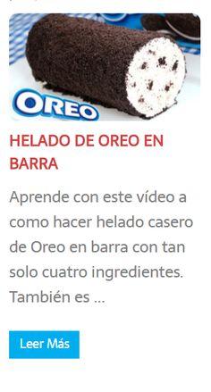 """#RECETA: """"HELADO DE #OREO EN BARRA"""""""