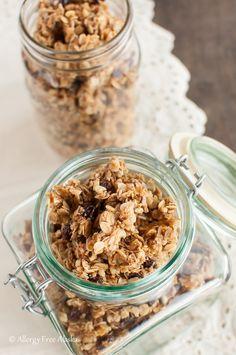 Chai Spiced Honey Granola with Coconut Oil | Allergy Free Alaska #glutenfree #recipes