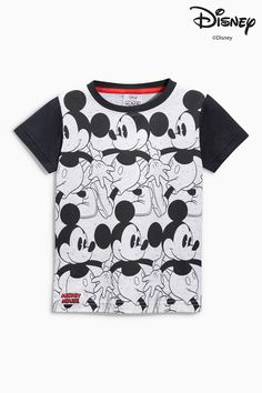 Buy Monochrome Mickey Mouse™ All Over Print T-Shirt (3mths-6yrs) from the Next UK online shop