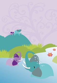 Meri Mort, Helsinki, Finland based illustrator. For Mimmit - children's animation serie.