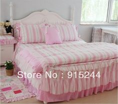 Aliexpress.com : Buy Free Shipping Rustic princess cotton 4pcs bedding set  KING Wedding Luxury HomeTextiles queen White Pink lace Bedding bedclothes from Reliable bedding set king size suppliers on Queen King Bedding Set . $106.80 - 119.80