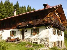Traditional Swiss chalet.
