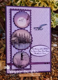 Calligraphy Cards - Shaz in Oz: WOYWW Ink Resist + Brayer with Stampscapes
