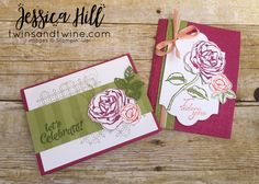 Woooo Hooo! It's FRIDAY! We should call this Floral Friday! Today I'm featuring the brand new Graceful Garden stamp set. I made these for an up coming swap. I have over 500 cards to make before July. Two down. . . . many more to go. . . . . Order by clicking on the products below! Graceful Garden Clear-Mount Stamp Set [143849] Petal Garden Designer Series Paper Stack [144168] Hugs and Happy Crafting! Related Continue reading