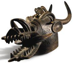 Senufo Helmet Mask (kponyugu), Ivory Coast | lot | Sotheby's