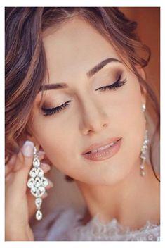 Wedding Makeup For Blue Eyes, Wedding Makeup Tips, Natural Wedding Makeup, Wedding Hair And Makeup, Wedding Make Up, Natural Makeup, Hair Wedding, Wedding Bride, Romantic Wedding Makeup