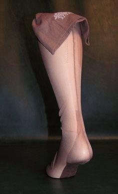 0ffaf322d 1 pr seamed nylon stockings outsize 36