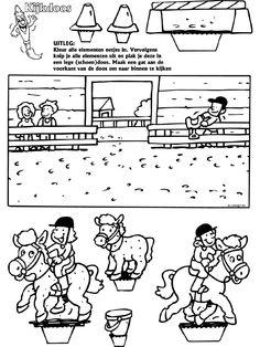 Paardrijden - Kijkdoos - Knutselpagina.nl - knutselen, knutselen en nog eens knutselen.