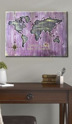 Personalized Carved Wood Signs For Home Wood Engraved Sign Wood World Map Wall Art Wood Plank Decor Modern Wood Wall Art Wood Engraved Art  USD 155.78+