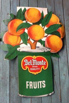 Rare Vintage Lithograph Advertisement DelMonte Foods