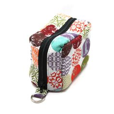 Made When Ordered Purse Size Essential Oil Case Holds 6 Bottles Colorful Mod Dots on Gray