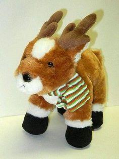 Ganz Stuffed Plush Beanie Christmas Rene Reindeer Deer Animal Hard to Find Rare