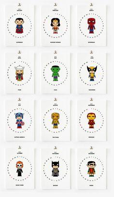 Calendar Sale - Cute Superhero 2012 Calendar